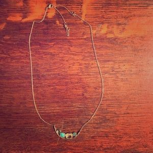Anthropologie Turquoise Gemstone Necklace